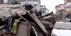 Kartal'da patlama sonrası 8 katlı bina çöktü