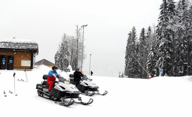 Putin ve Lukaşenko'nun kayak keyfi