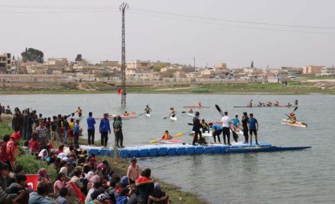 Telabyad'da ilk kez kano festivali düzenlendi