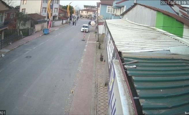 Yıkamaya bırakılan lüks ciple drift atan alkollü sürücü dehşeti kamerada