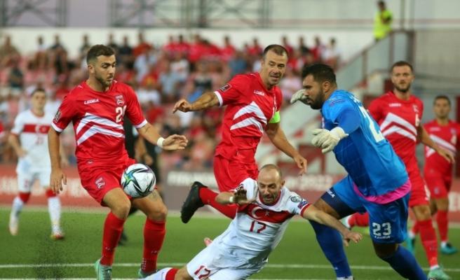 2022 FIFA Dünya Kupası Elemeleri: Cebelitarık: 0 - Türkiye: 0 (İlk yarı)