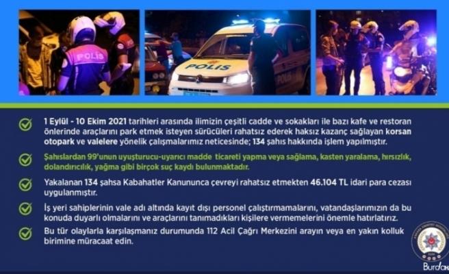 Ankara'da korsan vale ve otoparkçılara yönelik uygulamada 134 kişiye işlem uygulandı