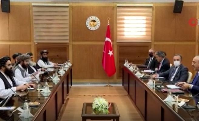 Bakan Çavuşoğlu başkanlığındaki heyet Taliban heyeti ile bir araya geldi
