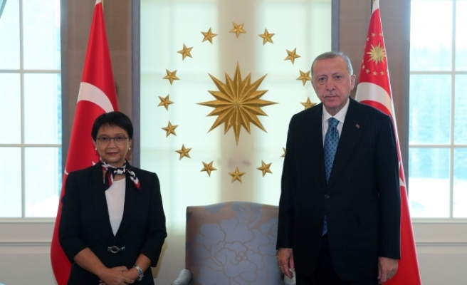 Cumhurbaşkanı Erdoğan, Endonezya Dışişleri Bakanını kabul etti