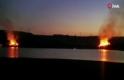 Sazlıbosna Barajı'nda korkutan yangın