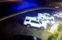 Suudi Arabistan'da kontrolden çıkan cip araçlara çarpıp metrelerce havaya uçtu
