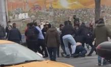 İstanbul'un göbeğinde kemerli kavga kamerada