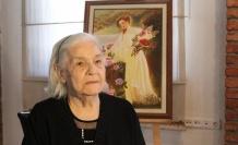 91 yaşındaki Vedia Lokman ilk resim sergisini açtı