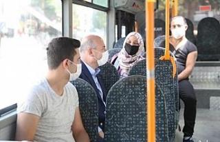 İçişleri Bakanı Soylu halk otobüsüne binerek...