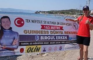 Milli sporcu Birgül Erken, Çanakkale'de dünya...