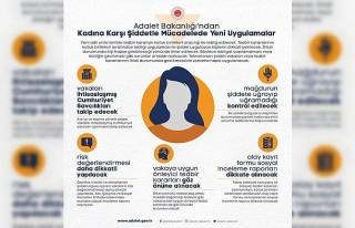 Adalet Bakanlığı kadına yönelik şiddetle mücadelede...