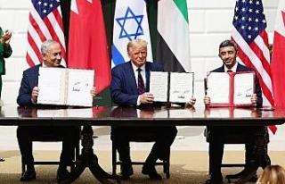 Beyaz Saray'da İsrail-BAE-Bahreyn arasındaki anlaşmanın...