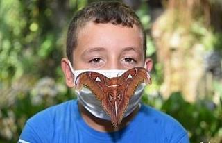 """Dünyanın en büyük kelebeği """"Atlas"""" Konya..."""