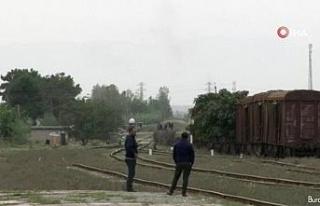 Ermeni ordusu Terter bölgesinde sivil yerleşim birimlerini...
