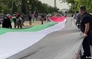 İsrail-BAE anlaşması Beyaz Saray etrafında protesto...