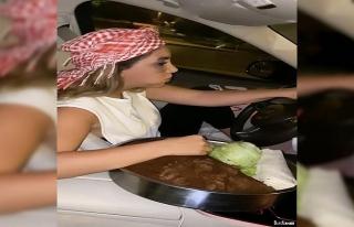 """İstanbul trafiğinde """"çiğ köfteli"""" kadın..."""