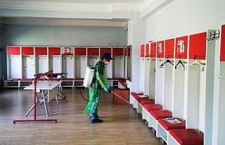 Sivasspor'un kulüp tesisleri dezenfekte edildi