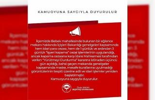 Skandal görüntülere Beşiktaş Kaymakamlığından...