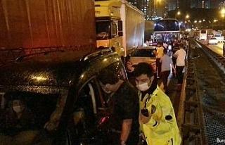 TEM'de zincirleme kaza: 28 araç birbirine girdi