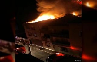 Karantinada kalan ailenin evinde yangın çıktı