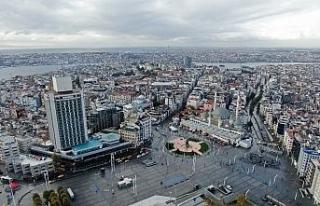 Kısıtlama sonrası Taksim'de yaşanan hareketlilik...