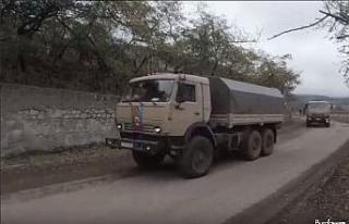 Rus Barış Gücü askerleri Dağlık Karabağ'da...