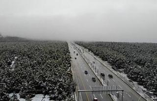 Başkent'tin kartpostallık kar manzaraları havadan...