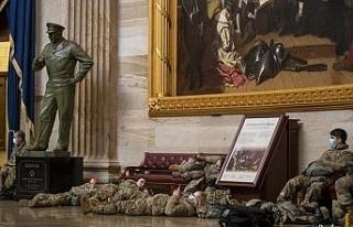 Washington DC'de Biden'ın yemin törenine sayılı...