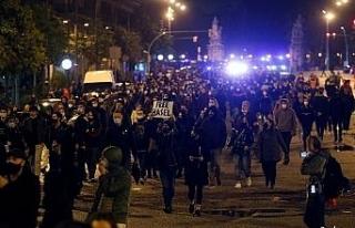 İspanya'da rapçi Hasel'in tutuklanmasına karşı...