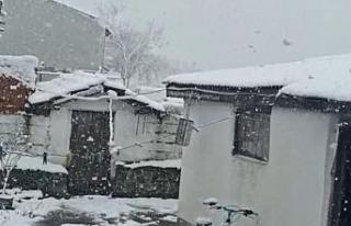 Balkanlar'dan giriş yapan kar Trakya'yı beyaza...