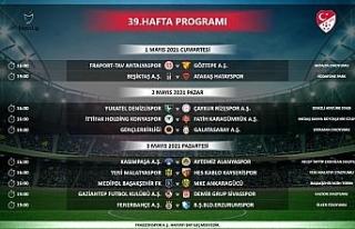 Denizlispor, Süper Lig'de 35-39. hafta programları...