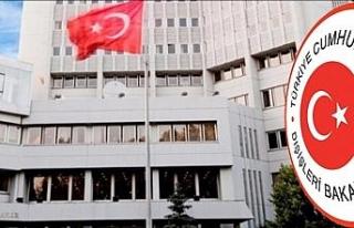 Dışişleri Bakanlığından Yunan Dışişleri Bakan...