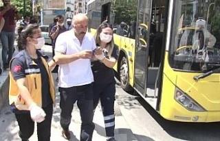 Ataşehir'de HES kodu olmayan yolcu, otobüs şoförünü...