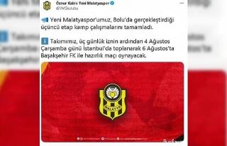 Yeni Malatyaspor, 3. etap kamp çalışmalarını...
