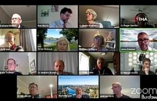 Yeni Zelanda bölge konseyinin Zoom toplantısı,...