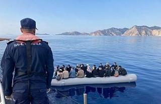 25 düzensiz göçmen kurtarıldı