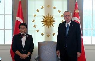 Cumhurbaşkanı Erdoğan, Endonezya Dışişleri Bakanını...