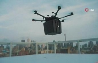 Dünyada nakil için ilk kez drone ile akciğer taşındı
