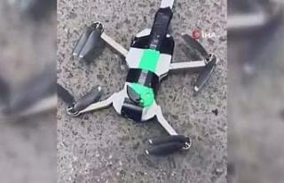 Peru'da bıçak bağlanan drone ile güvercin kurtarma...