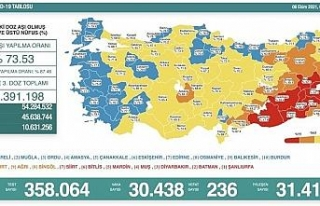Son 24 saatte korona virüsten 236 kişi hayatını...