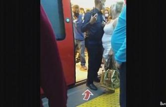 Ankara metrosunda vatandaşlar arasında maske tartışması