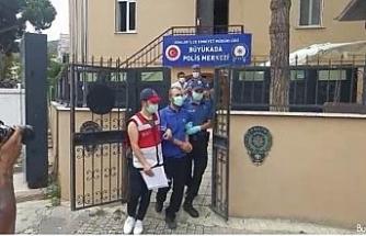 Heybeliada'da yangın çıkardığı iddia edilen şüpheli adliyeye sevk edildi