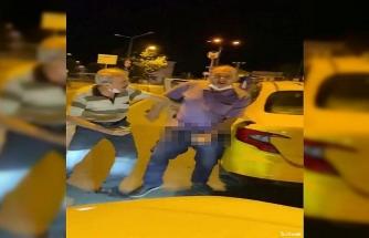 İstanbul'un göbeğinde taksici rezaleti