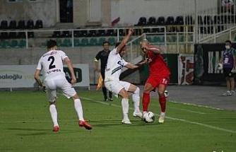Süper Lig: Denizlispor: 0 - Gaziantep FK: 1 (İlk yarı)
