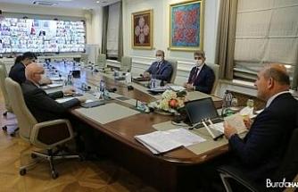 İçişleri Bakanı Soylu, 81 ilin valisiyle Kovid-19 tedbirlerini değerlendirdi