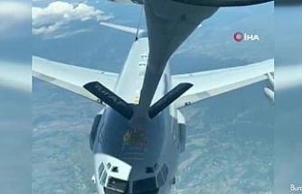 """""""NATO'ya ait uçağa Hava Kuvvetlerimize tanker uçağından Romanya üzerinde yakıt ikmali yapıldı"""""""