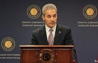 Dışişleri Bakanlığından Ermenistan'a tepki