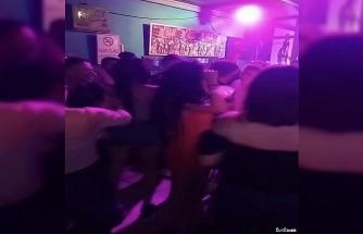Gece kulüplerindeki kuralsız eğlenceler kamerada