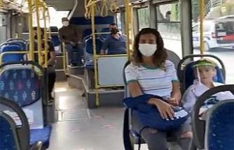 Kağıthane'de toplu taşıma araçlarında maske ve mesafe denetimi
