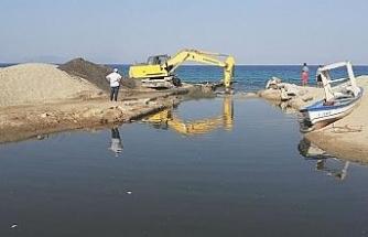 Kocagöl'ün denizle bağlantısını sağlayan kanal açıldı